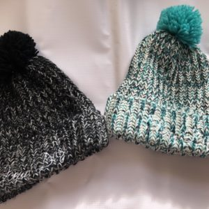 Pom Pom beanies Ocean Daze embroidered