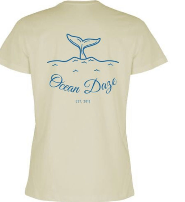 Whale Tail Small Logo Back side of T-shirt